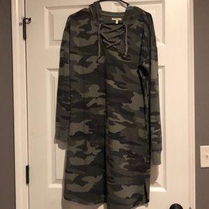 Maurices Camo Dress with hood